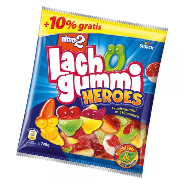 nimm2 Lachgummi Heroes 225g+10% 248g