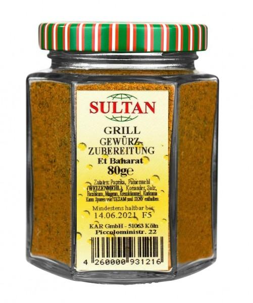 Sultan Grillgewürz Glas 80g