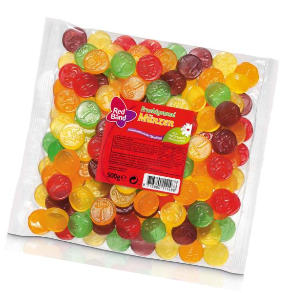 Red Band Fruchtgummi Münzen 500g