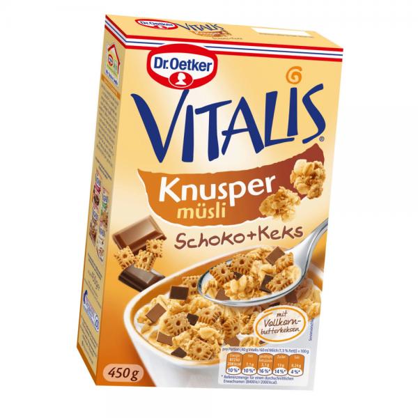 Vitalis Knuspermüsli Schoko+Keks 450g