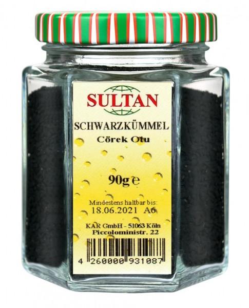 Sultan Schwarzkümmel Glas 90g