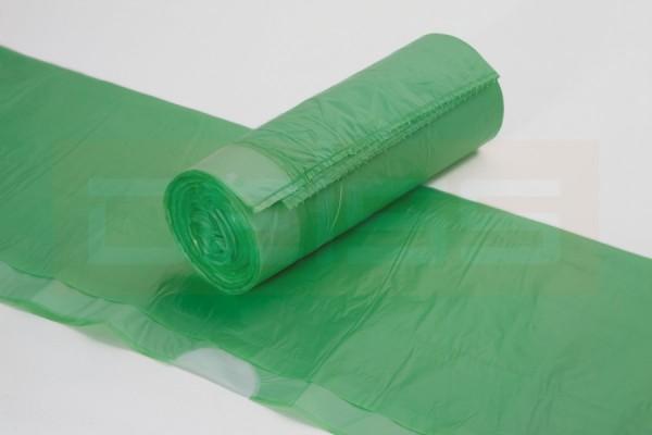 DEISS Zugbandsack, grün-tranparent, 60 Liter, Rolle 20er