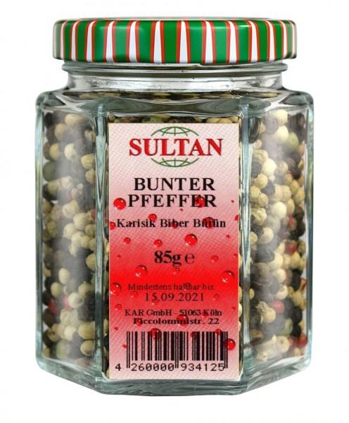 Sultan bunter Pfeffer Mix Glas 85g
