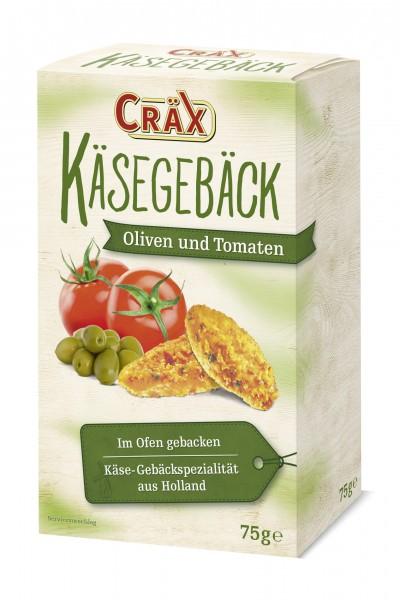 Cräx Käsegebäck mit Oliven und Tomaten 75g