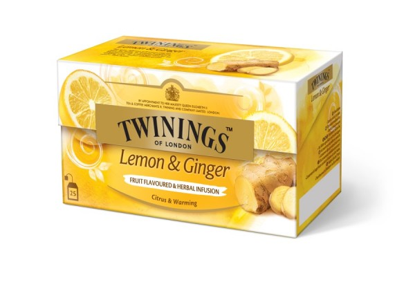 Twinings Lemon & Ginger (25 Beutel a 1,5 g) 37,5g