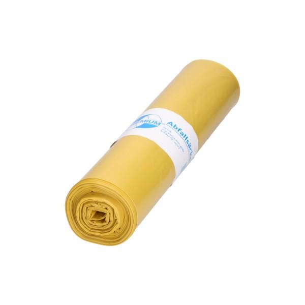 DEISS PREMIUM 120 Liter, gelb, Typ 60 Abfallsack Rolle 25er
