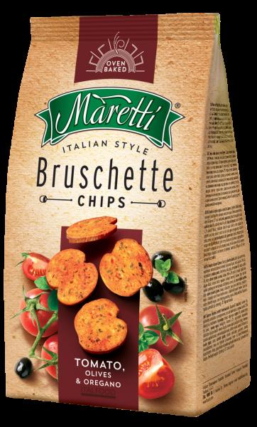 Maretti Bruschette Tomato, Olives & Oregano 150g