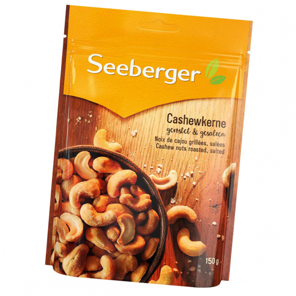 Seeberger Cashewkerne geröstet, gesalzen 150g