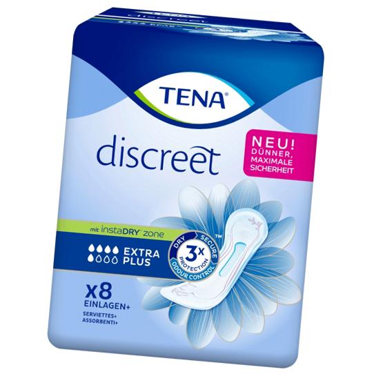 Tena Discreet Extra Plus Einlagen 8er Hygieneeinlagen