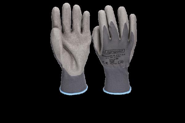 Bingold Feinstrick Handschuhe aus Polyester mit Latex-Beschichtung