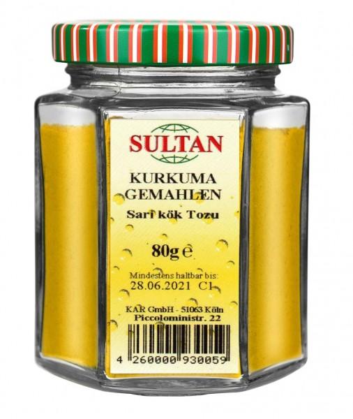 Sultan Kurkuma Glas 80g