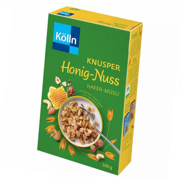 Kölln Hafer-Müsli Knusper Honig-Nuss 500g