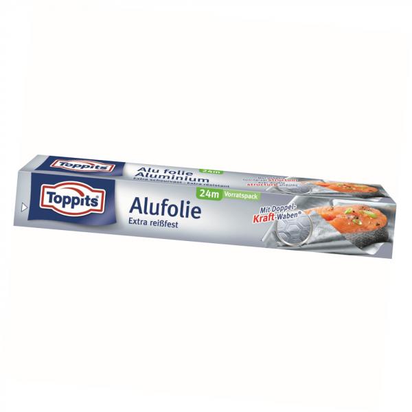 Toppits Kraft-Alufolie 24m extra reissfest