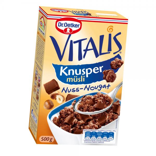 Vitalis Knusper-Müsli Nuss-Nougat 500g