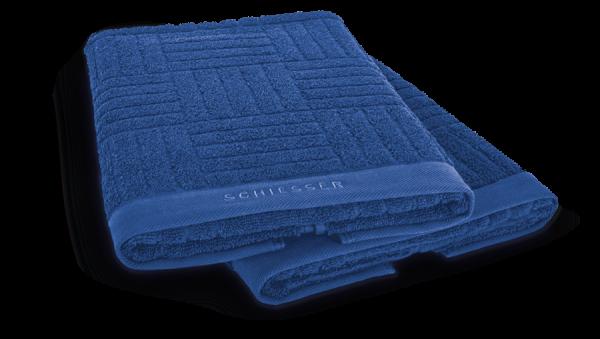 SCHIESSER Handtuch 50 x 100 cm Blau, 2er Set