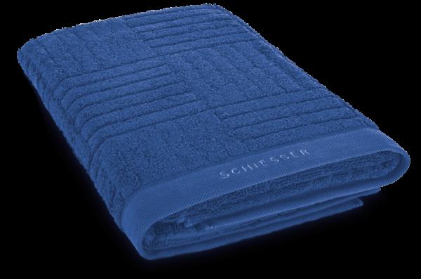 SCHIESSER Duschtuch 70 x 140 cm Blau