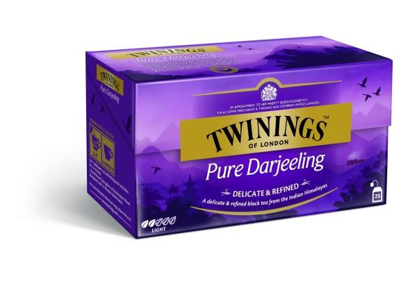 Twinings Pure Darjeeling Schwarztee (25 Beutel a 2g) 50g