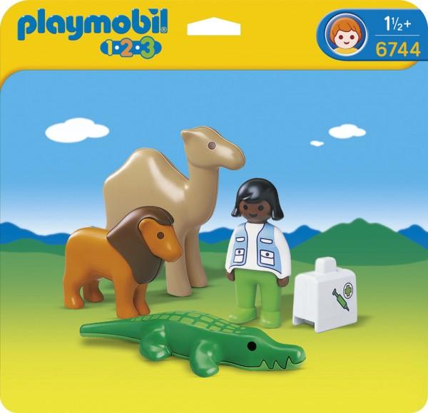PLAYMOBIL Tierarzt mit Wildtieren 123