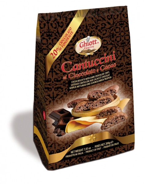 Ghiottini Cantuccini Chocolate e Cacao 200g