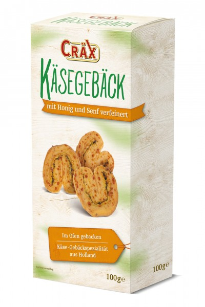 Cräx Käsegebäck mit Senf und Honig 100g