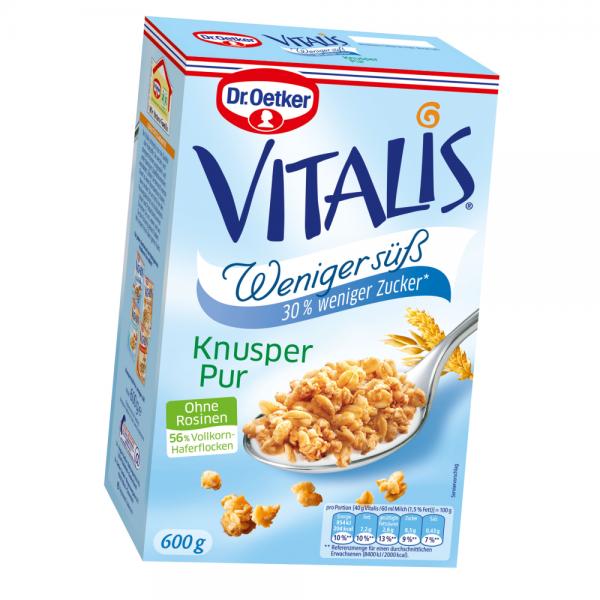 Vitalis Weniger süß Knusper Pur 600g