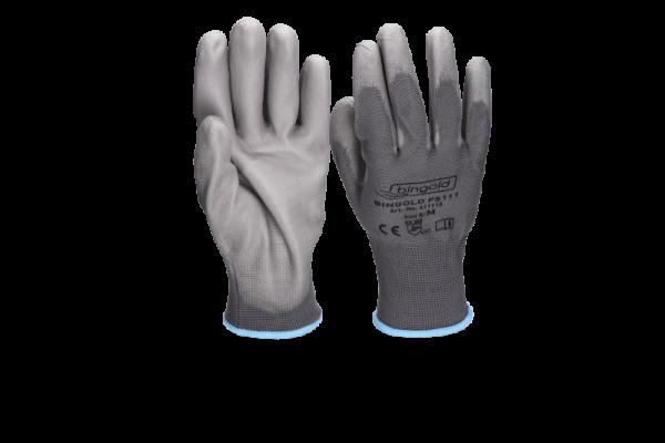 Bingold Feinstrick Handschuhe aus Polyester mit PU-Beschichtung