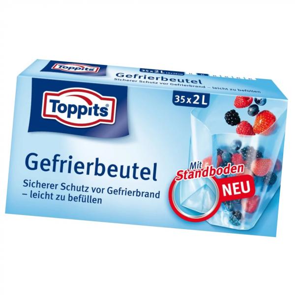 Toppits® Gefrierbeutel Standboden 2l 35Stück