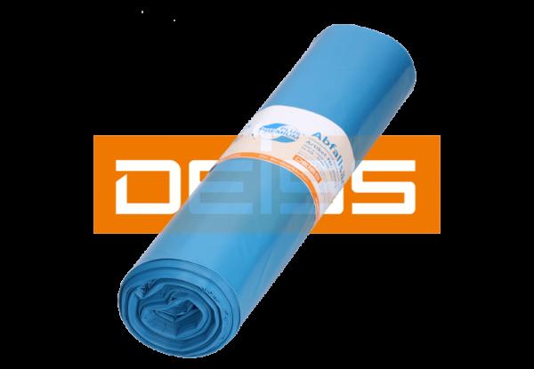 DEISS PREMIUM 120 Liter, blau, Typ 100, 70µ, Abfallsack Rolle 25er