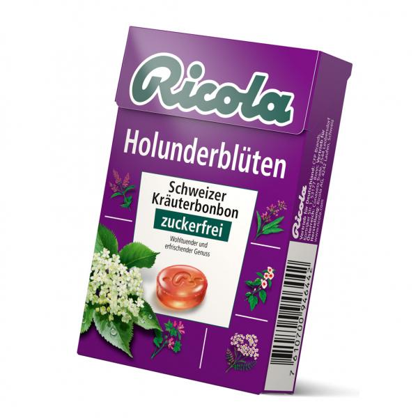 Ricola Holunder zuckerfrei Box 50g