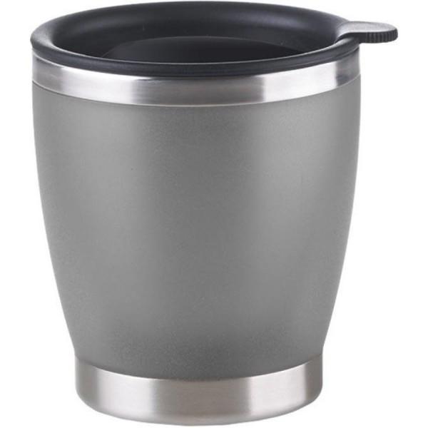 EMSA City Cup Isolier-Trinkbecher mit Trinkverschluss silber 0,2L