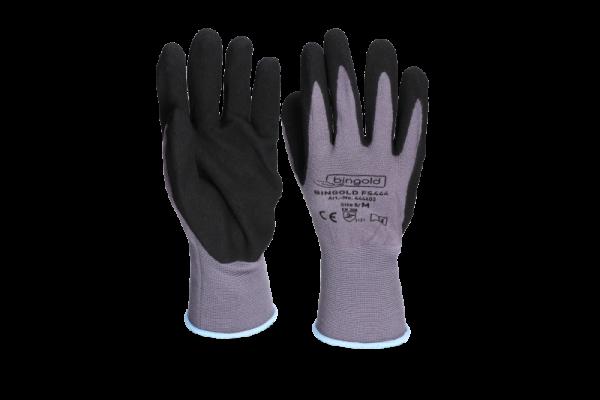 Bingold Nylon-Handschuhe mit Sandy-Finish Nitrilbeschichtung