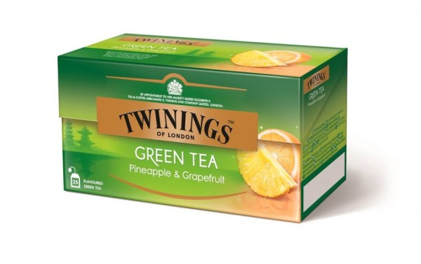 Twinings Green Tea Pineapple & Grapefruit Grüntee (25 Beutel a 1,6g) 40g