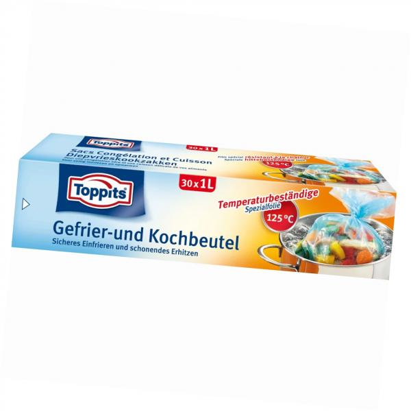 Toppits® Gefrier-Koch-Beutel 1 l 30 Stück