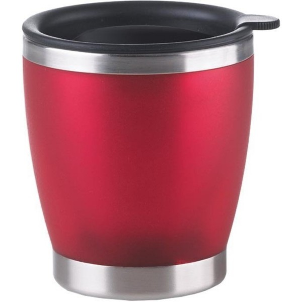 EMSA City Cup Isolier-Trinkbecher mit Trinkverschluss rot 0,2L