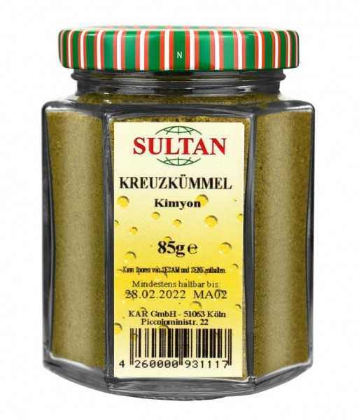 Sultan Kreuzkümmel-Cumin Glas 85g