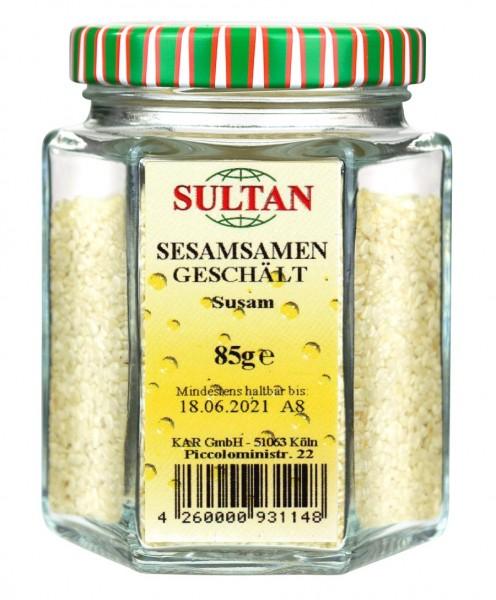 Sultan Sesamkerne geschält Glas 85g